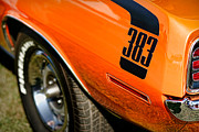 Orange Digital Art Originals - 1970 Plymouth Cuda Barracuda 383 by Gordon Dean II