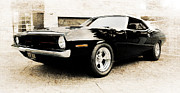 Phil Motography Clark Metal Prints - 1970 Plymouth Cuda Metal Print by Phil 