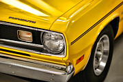 Banana Art Digital Art Prints - 1970 Plymouth Duster 340 Print by Gordon Dean II
