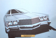 Concepts  Mixed Media - 1970 PLYMOUTH FURY  vintage styling concept design sketch by John Samsen