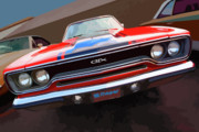 Stock Photo Digital Art - 1970 Plymouth GTX Vectorized by Gordon Dean II