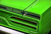 Mopar Metal Prints - 1970 Plymouth Road Runner - Sublime Green Metal Print by Gordon Dean II
