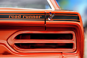 Stock Photo Digital Art Metal Prints - 1970 Plymouth Road Runner - Vitamin C Orange Metal Print by Gordon Dean II