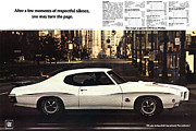 Poster From Digital Art Metal Prints - 1970 Pontiac GTO The Judge  Metal Print by Digital Repro Depot