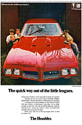 Leagues Digital Art Prints - 1970 Pontiac GTO - The quick way out of the little leagues. Print by Digital Repro Depot
