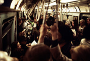Tntar Prints - 1970s America. Passengers On A Subway Print by Everett