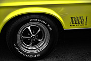 Yellow Cobra Prints - 1971 Ford Mustang Mach 1 Print by Gordon Dean II