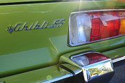 Tail Light Photos - 1971 Maserati Ghibli 4.9 SS Spyder Taillight Emblem by Jill Reger