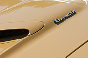 Muscle Car Prints - 1971 Plymouth Barracuda Convertible 318 CI Hood Emblem Print by Jill Reger