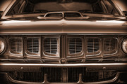 Sepia Digital Art Originals - 1971 Plymouth Cuda 440 by Gordon Dean II