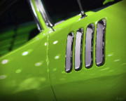 Auto Art Prints - 1971 Plymouth Cuda Fender Gills Print by Gordon Dean II