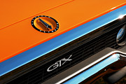 Orange Digital Art Originals - 1971 Plymouth GTX by Gordon Dean II