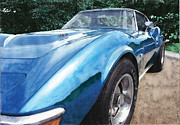 Corvette Paintings - 1972 Corvette by Rod Seel