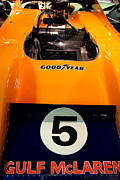 Transportation Metal Prints - 1972 McLaren M20 Can-Am Race Car Metal Print by Wingsdomain Art and Photography