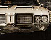 Headlight Digital Art - 1972 Olds 442 - Sepia by Gordon Dean II