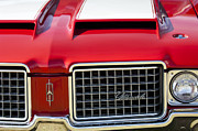 Muscle Car Photos - 1972 Oldsmobile Grille by Jill Reger