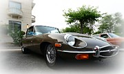 Jaguar E Type Classic Car Posters - 1973 Jaguar Type E Poster by Paul Ward