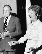 First Lady Photo Framed Prints - 1973 Us Presidency.  Bob Hope And First Framed Print by Everett