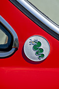 Alfa Romeo Gtv Photos - 1974 Alfa Romeo GTV Emblem  by Jill Reger