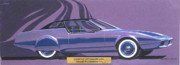 Chrysler Styling Prints - 1974 DUSTER  Plymouth styling design concept sketch Print by John Samsen