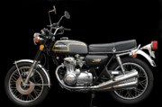 Jacksonville Posters - 1974 Honda CB350 Four Poster by William Jones
