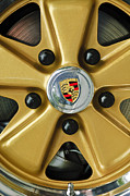 Classic Porsche 911 Photos - 1974 Porsche 911 Carrera Coupe Wheel Emblem by Jill Reger