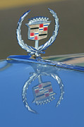 1975 Framed Prints - 1975 Cadillac Eldorado Hood Ornament Framed Print by Jill Reger