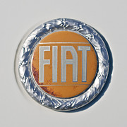 1977 Photos - 1977 Fiat 124 Spider Emblem by Jill Reger