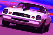 Classic Digital Art Originals - 1978 Chevy Camaro Z28 by Gordon Dean II