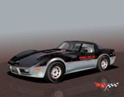 Indy Car Prints - 1978 Corvette Indy Pace Car Edition Print by Bob Livengood