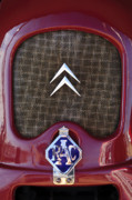 Hoodies Photos - 1979 Citroen 2CV Speedster Hood Ornament by Jill Reger