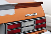 1980 Framed Prints - 1980 Chevrolet Malibu SS Taillight Emblem Framed Print by Jill Reger