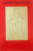 1980s Drawings - 1980 Original Matisse Exhibition Poster - Drawings Galerie Benador by Henri Matisse