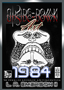 News Mixed Media Posters - 1984 Commemorative Poster from L R Emerson II Lead Upside Down Artist Poster by L R Emerson II