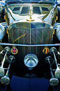 Roadster Grill Posters - 1984 Excalibur Roadster Grille Poster by Jill Reger