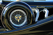 1984 Prints - 1984 Excalibur Roadster Spare Tire Print by Jill Reger
