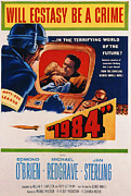 1956 Movies Photo Posters - 1984, Jan Sterling, Edmond Obrien, 1956 Poster by Everett