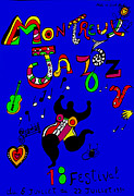 1980s Drawings - 1984 Original Swiss Poster - Montreux Jazz Festival by Niki de Saint Phalle