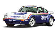 Qatar Digital Art Framed Prints - 1984 Porsche 911 Sc Rs Rothmans Framed Print by Alain Jamar