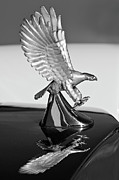 Car Mascot Framed Prints - 1986 Zimmer Golden Spirit Hood Ornament 3 Framed Print by Jill Reger