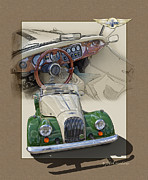 1987 Posters - 1987 Morgan Plus8 4.5 Litre Poster by Roger Beltz