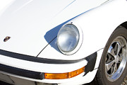 1987 White Porsche 911 Carrera Front Print by James Bo Insogna