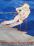 1980s Drawings - 1987 Womens Ski World Cup Slalom Damen - Switzerland by Unknown