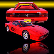 Shows Posters - 1990 Ferrari Testarossa Poster by Jim Carrell