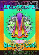 Dana Helms Posters - 1991 Upside Down Art Poster by L R Emerson II