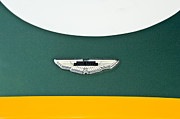 Beach Photographs Posters - 1993 Aston Martin DBR2 Recreation Hood Emblem Poster by Jill Reger