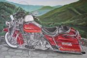 1995 Harley Road King Print by Rick Spooner