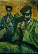 Obama Pastels - 1996 Sun House and George Benson  by Marcellous  Lovelace