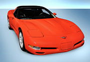 90s Framed Prints - 1997 Chevrolet Corvette C5 Coupe Framed Print by Oleksiy Maksymenko