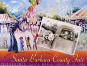 Crowds  Prints - 1998 Santa Barbara County Fair poster Print by Joan  Jones